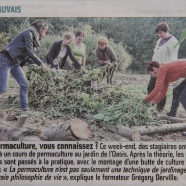 1er stage d'initiation à la permaculture à Beauvais