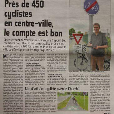 """Opération """"Comptage de cyclistes"""" de Vellovaque"""