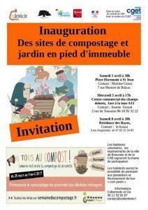Inauguration d'un composteur partagé au quartier Saint-Jean