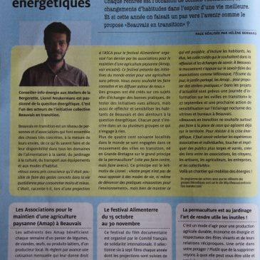 Présentation de Beauvais en transition dans le journal Missio