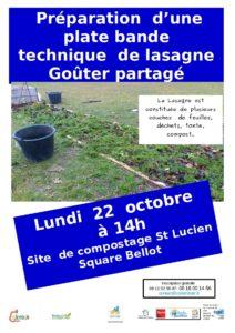 Plate bande en lasagne @ Site de compostage St Lucien